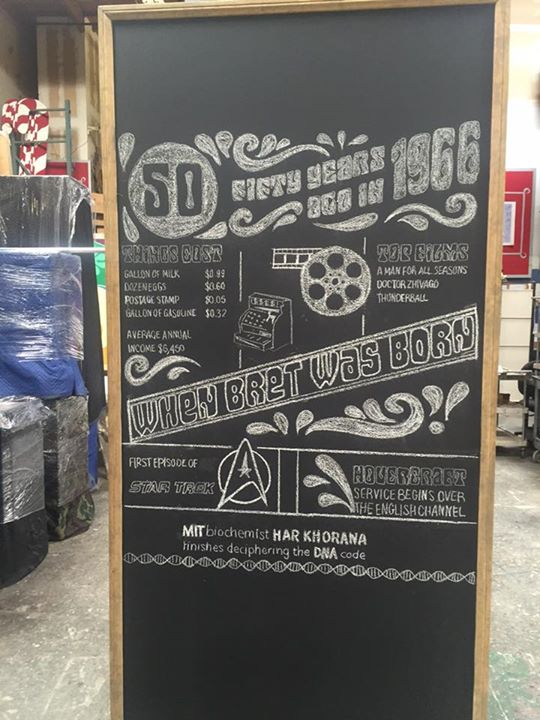 4x8 chalkboard with custom art