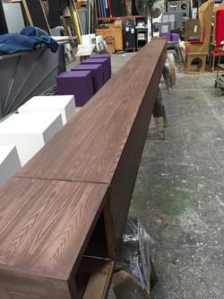 Faux woodgrain truss cover