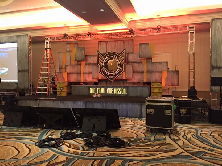 Faux Metal Stage Set