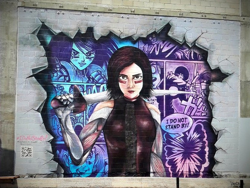Disney Creates Alita Mural for Massive Community Engagement