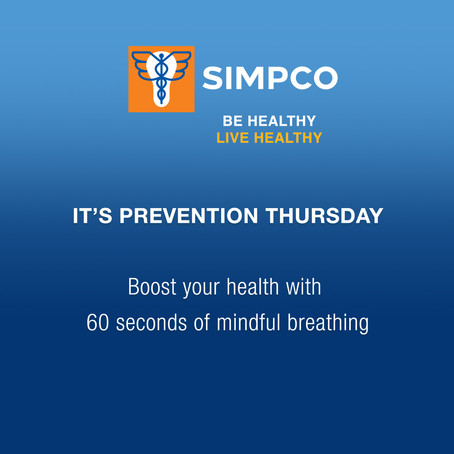 IT'S PREVENTION THURSDAY!