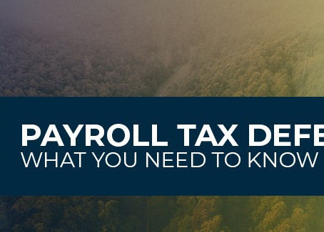 IRA Addresses The President's Executive Order on Employee Payroll Tax Deferral in Notice 2020-65