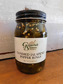 Candied Jalapeno Pepper Rings