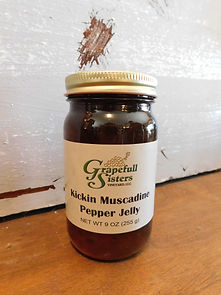 Kickin Muscadine Pepper Jelly
