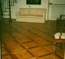 070 Pavimento a quadri Rovere - Noce - p