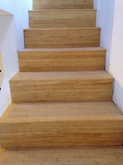 019 Bamboo rivestimento scala - privato.