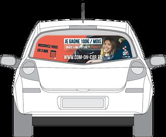 Publicité sur voiture