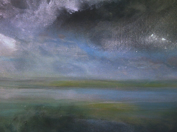 """Wet Weather (sold) Acrylic on canvas  H 40"""" W 30"""" / H 101.6 cm W 76.2cm"""