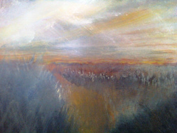 "Marsh Boom (sold) Acrylic on canvas H30"" W40"" /   H 76.2 cm / W 101.6 cm"