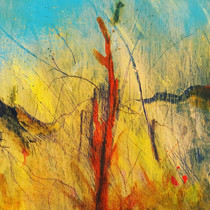 """Absent Minds – Fire Bug 1of 3 Acrylic on board  Each - H17.5"""" W17.5""""/H44 cm W44 cm 1of 3 sold together £600"""