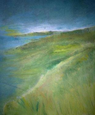 """Coastal Peace (sold) Acrylic on canvas H 40"""" W 30"""" / H 101.6 cm W 76.2cm"""