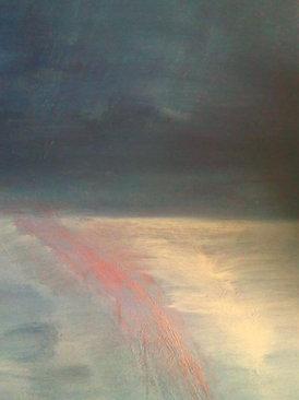 "Night Light (sold) Acrylic on canvas H 40"" W 30"" / H 101.6 cm W 76.2cm"