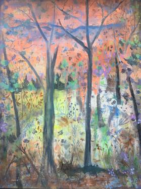 """Fluro Glow Acrylic on canvas  H43"""" W33""""/H109.22cm W83.82 cm £500"""