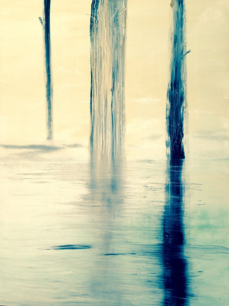 "Water Mark (sold) Acrylic on canvas  H 40"" W 30"" / H 101.6 cm W 76.2cm"