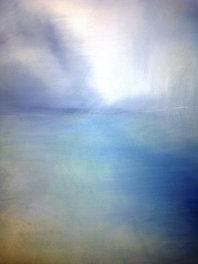 """Ephemeral Shift (sold) Acrylic on canvas  H 40"""" W 30"""" / H 101.6 cm W 76.2cm"""
