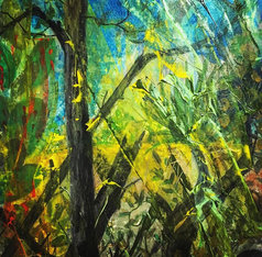 """Burn Baby Burn (sold) Acrylic on canvas  H 40"""" W 30"""" / H 101.6 cm W 76.2cm"""