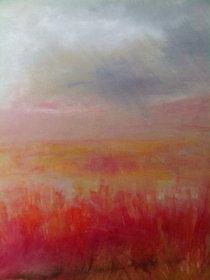 "Fire Field 1 (sold)  Acrylic on canvas H 40"" W 30"" / H 101.6 cm W 76.2cm"
