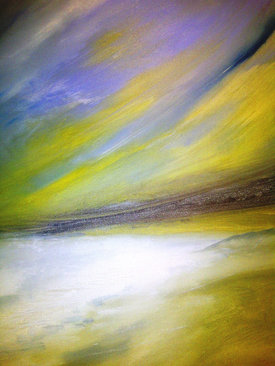 "White Beach (sold)  Acrylic on canvas H 40"" W 30"" / H 101.6 cm W 76.2cm"