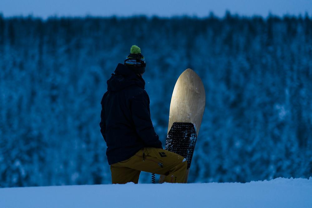 Snowsurfing in Lapland