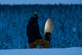 Snowsurfing on Nadasurf powderboard