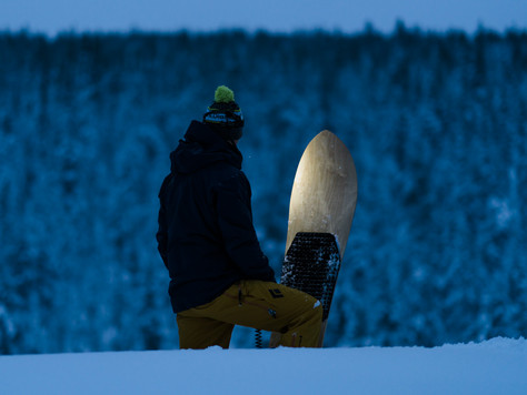 Snowsurfing on Nadasurf powderboard