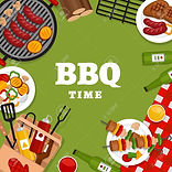100644127-bbq-party-background-with-gril