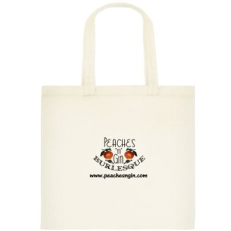 Tote Bag with Peaches 'n' Gin logo - 100% Cotton