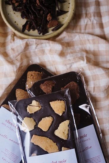 Trio Tablettes de Chocolat noir aux Éclats de tasses