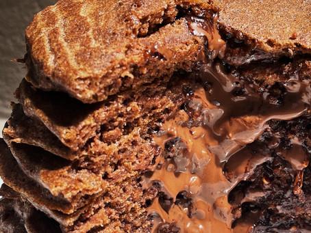 Recette de Pancakes choco noisettes intérieur coulant au Nocciolata Crunchy