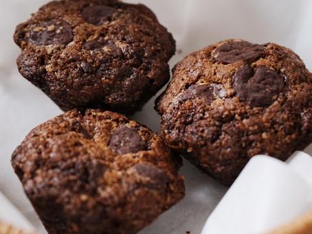 Recette facile de muffins à la poudre Cacao Noisettes et pépites de chocolat