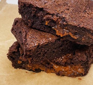 Recette facile de brownie au caramel au beurre salé