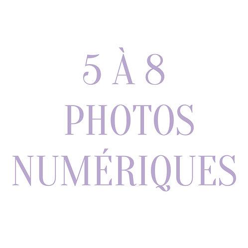 O - Photos numériques par courriel (5 à 8 photos)