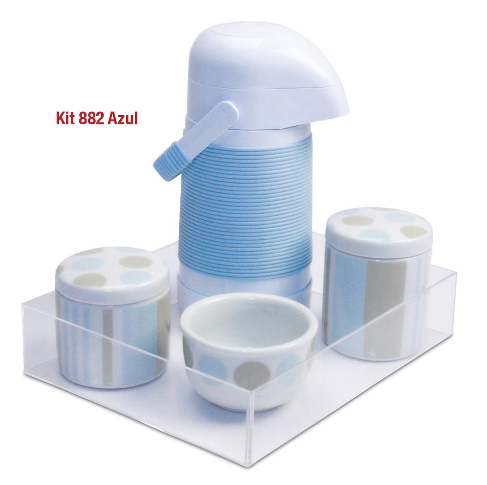 Kit 882 Bola Azul Cristal