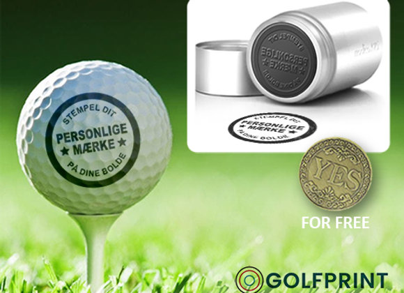 Golfboldstempel A25