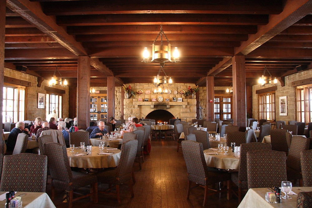 Pere Marquette Dining Room Fireplace