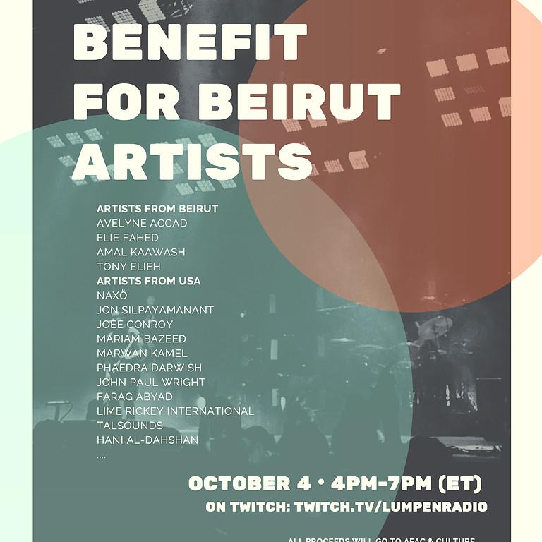Art Benefit For Beirut Artists