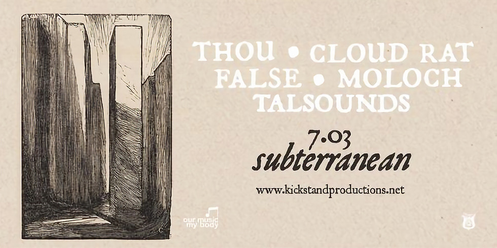Thou with Cloud Rat ▲ False ▲ Moloch ▲ TALsounds