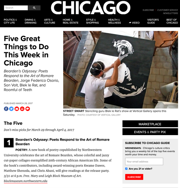 Chicago Magazine: Five Great Things to Do This Week in Chicago feat. TALsounds