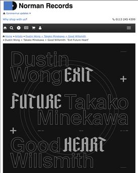 Norman Records Review: Dustin Wong + Takako Minekawa + Good Willsmith 'Exit Future Heart'