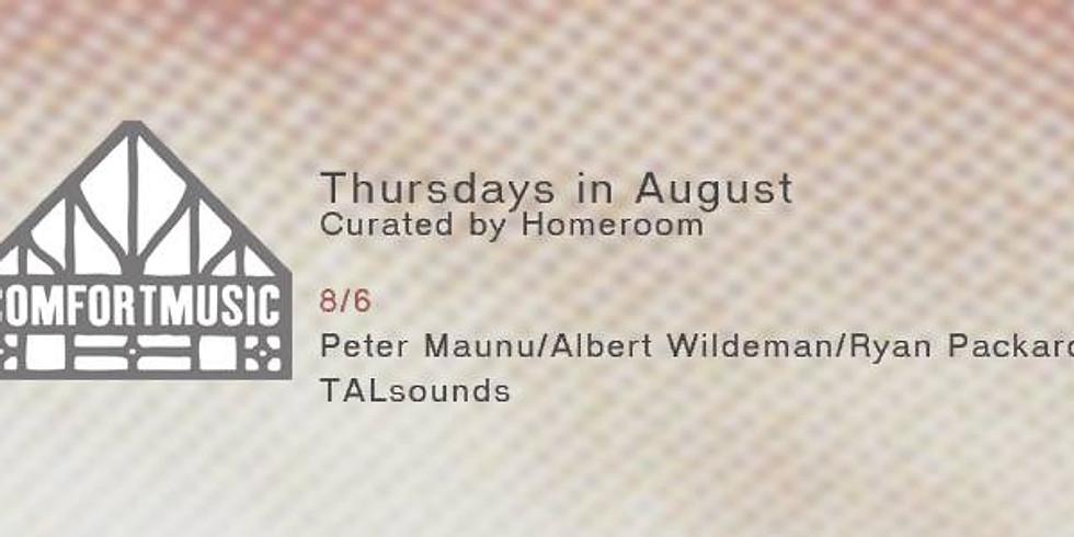 Homeroom curates the Comfort Music series: TALsounds + Ten x Ten 2015 artists