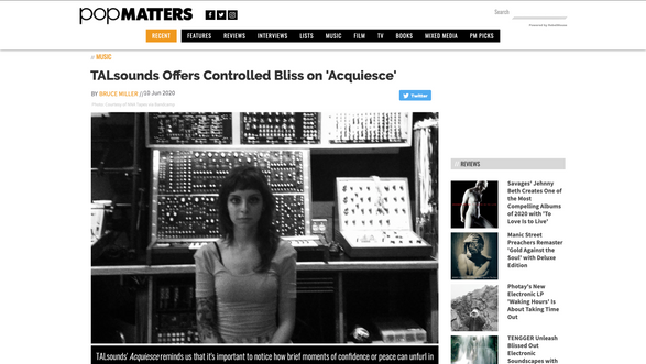 PopMatters: TALsounds Offers Controlled Bliss on ​'Acquiesce'