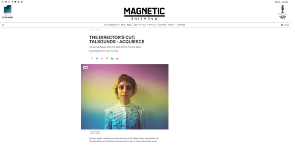 Magnetic Magazine: THE DIRECTOR'S CUT: TALSOUNDS - ACQUIESCE