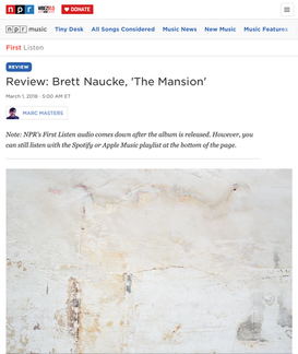 NPR Review: Brett Naucke, 'The Mansion'