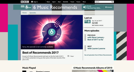 BBC RADIO 6 MUSIC: Best of Recommends 2017