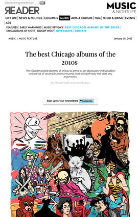 The Chicago Reader: The best Chicago albums of the 2010s