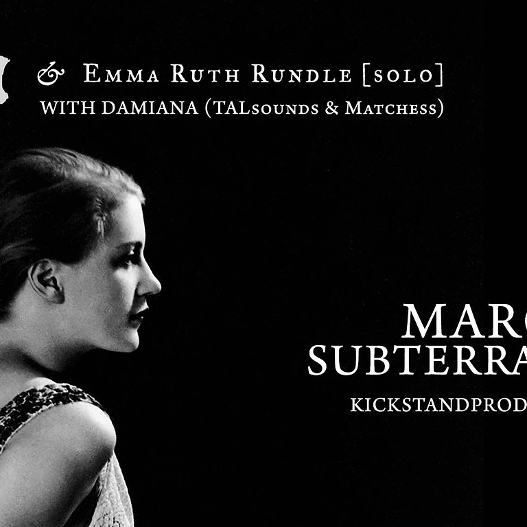Thou with Emma Ruth Rundle & Damiana (TALsounds & Matchess)