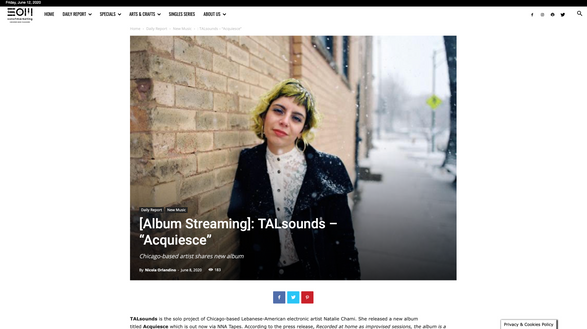 "Son Of Marketing: [Album Streaming]: TALsounds – ""Acquiesce"""
