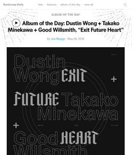 "Bandcamp: Album of the Day: Dustin Wong + Takako Minekawa + Good Willsmith, ""Exit Future Heart"""