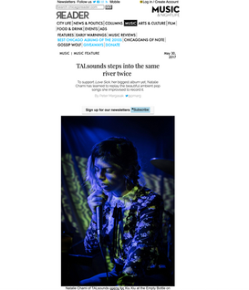 The Chicago Reader:Feature - TALsounds Steps Into The Same River Twice