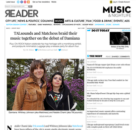 The Chicago Reader: TALsounds and Matchess braid their music together on the debut of Damiana